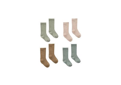 Quincy Mae Ribbed Baby Socks Lv-Ws-Pe-Es