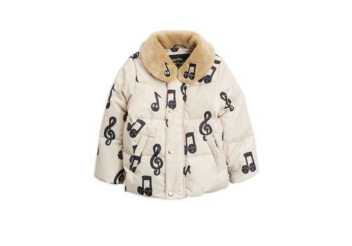 Mini Rodini Notes Puffer Jacket Offwhite