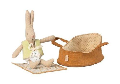 Maileg Micro rabbit in carrycot