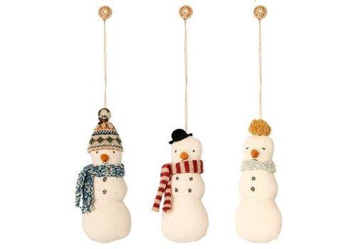 Maileg Snowman ornament, 3 pieces