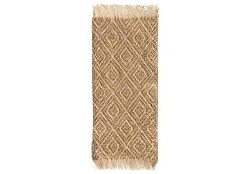 Maileg Miniature rug, 22 x 9 cm. - Mustard
