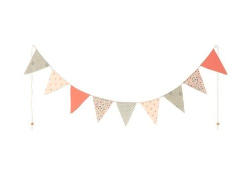 Maileg Garland, 9 Flags- Multi color