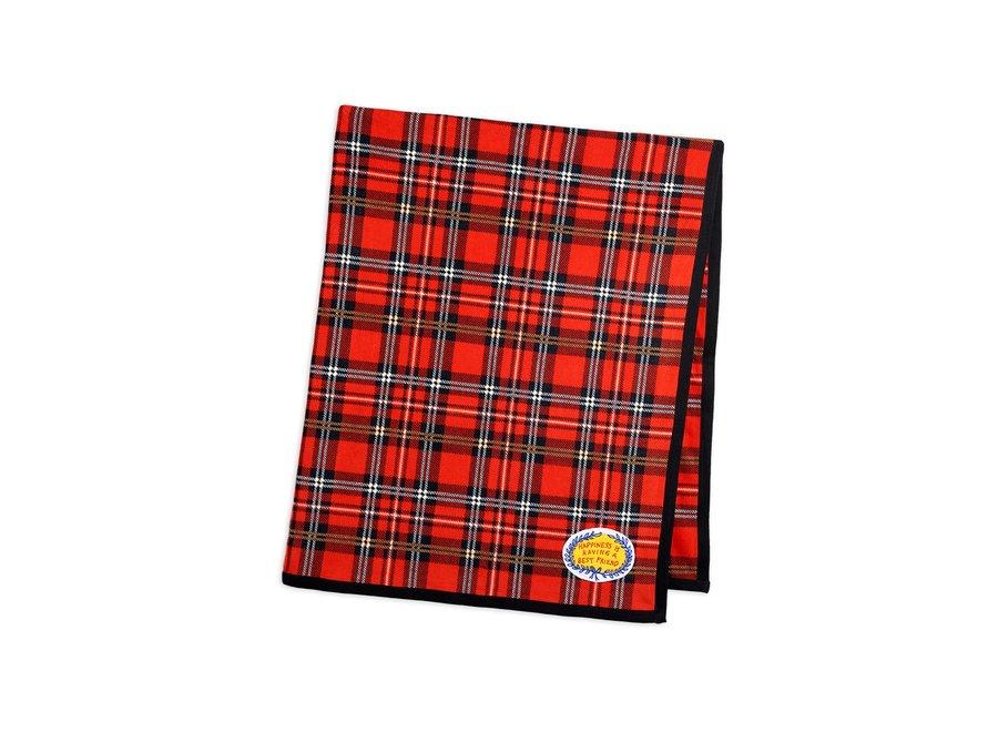 Fleece Check Blanket Red
