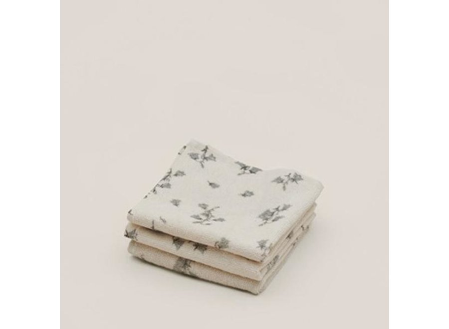 Face Towel 3 pcs Bluebell