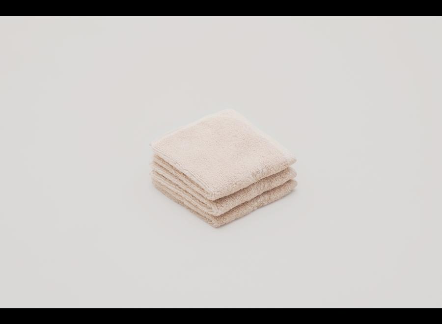 Face Towel 3 pcs Sand