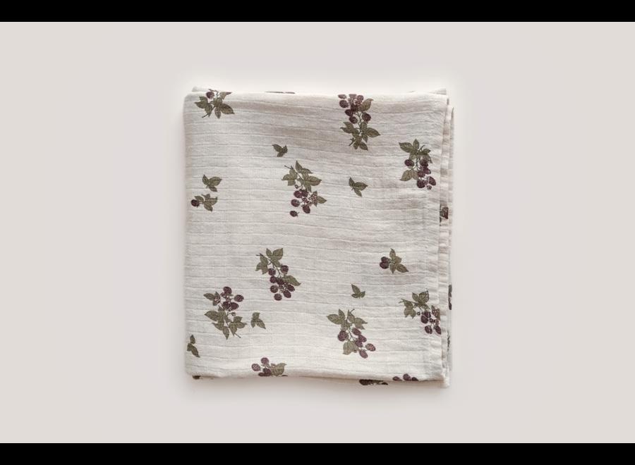 Blackberry Muslin Swaddle Blanket