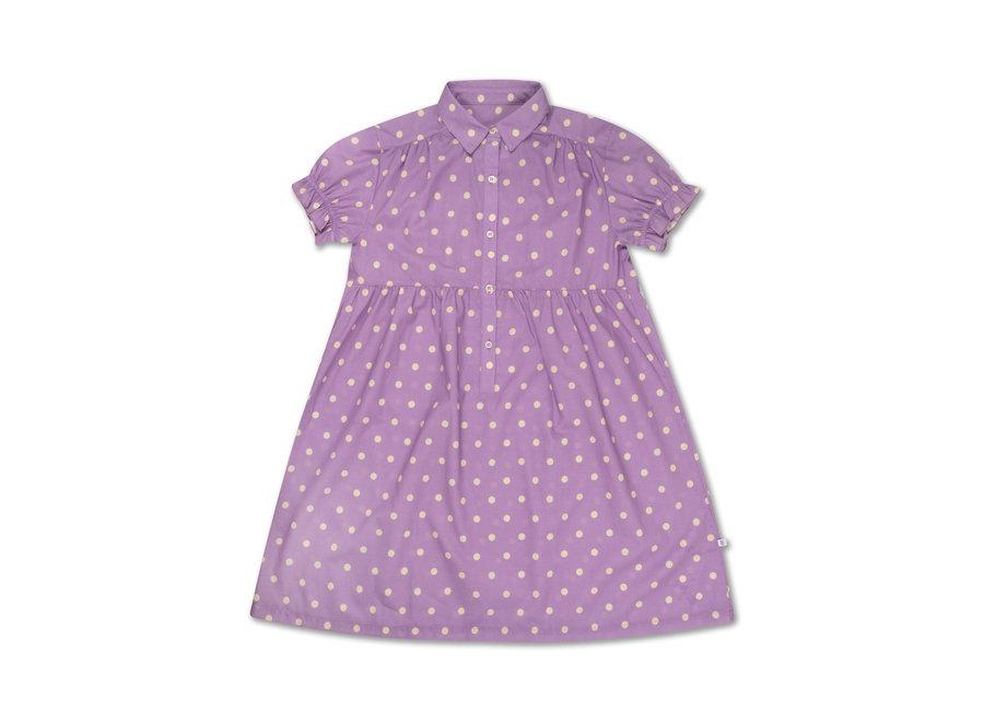 Dreamy Dress Greyish Lavender Polka Dot