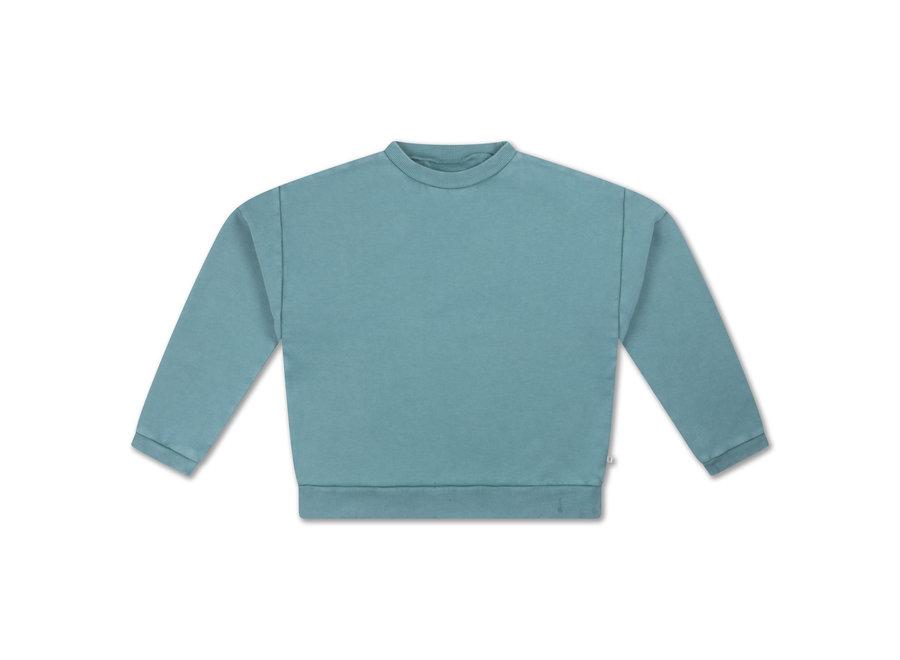 Crewneck Sweater Greyish Sky Blue