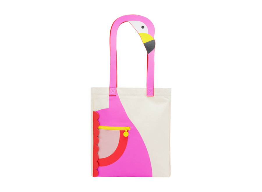 Flamingo Tote Bag Cream