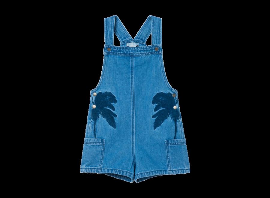 Denim Dung W/Palms Emb Medium Blu Denim
