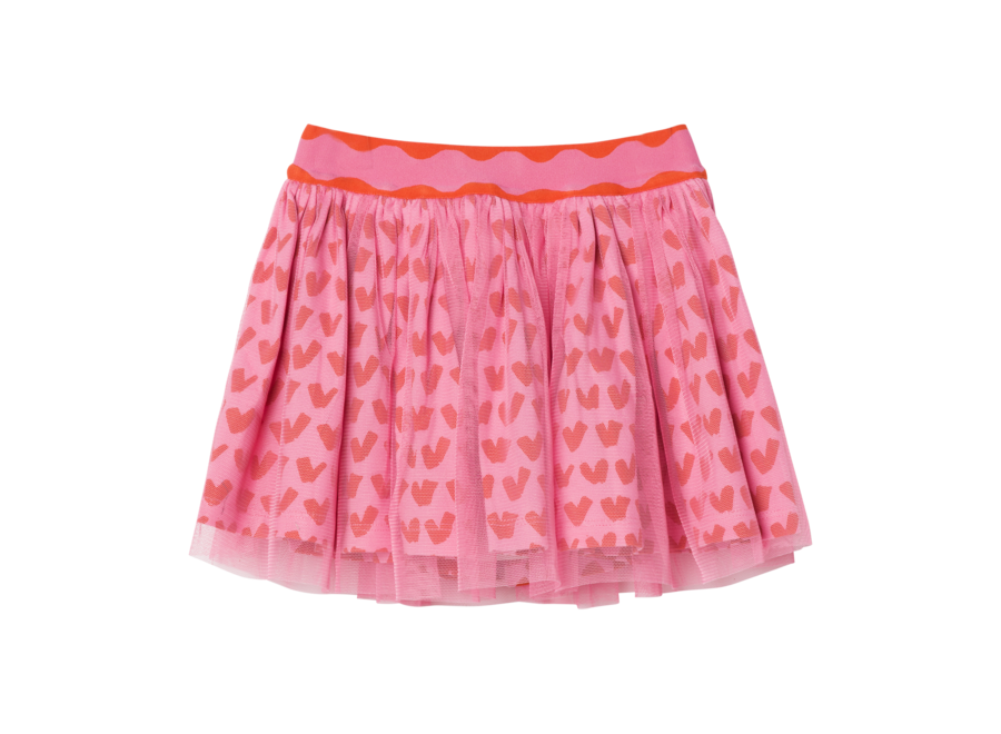 Hearts Tulle Skirt Hearts Pink