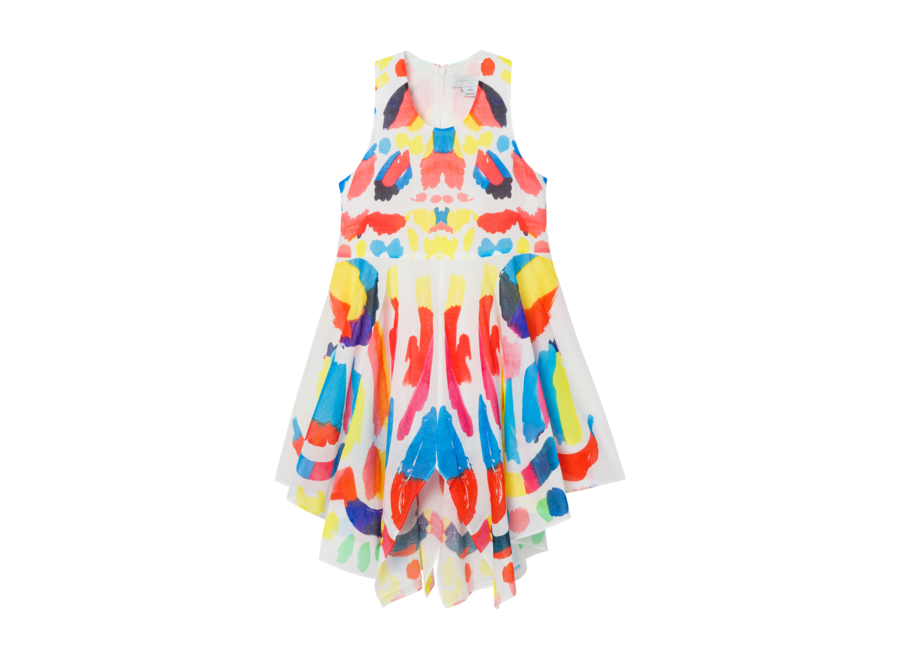 Dress W/Multicol Pr Multicolor