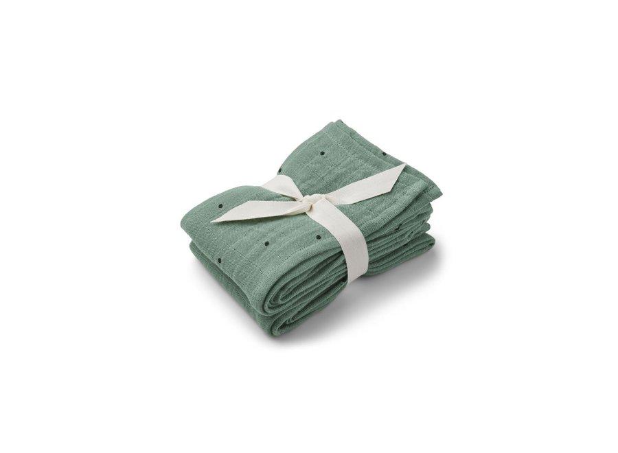 Lewis muslin cloth 2-pack Classic dot peppermint