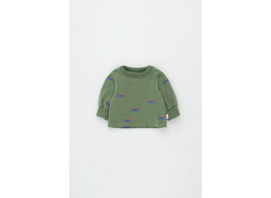Doggy Paddle Baby Sweatshirt green/iris blue