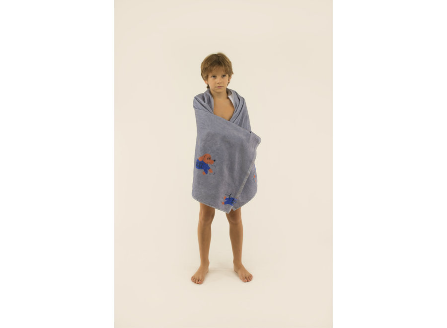 Doggy Paddle Towel summer grey/iris blue