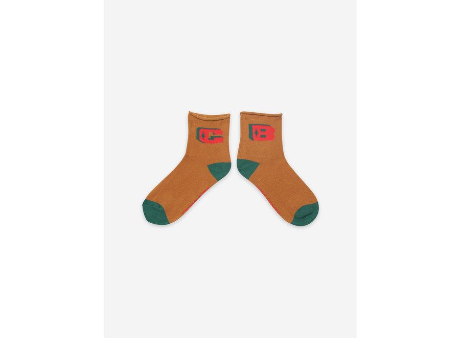 Brown BC Short Socks Topaz