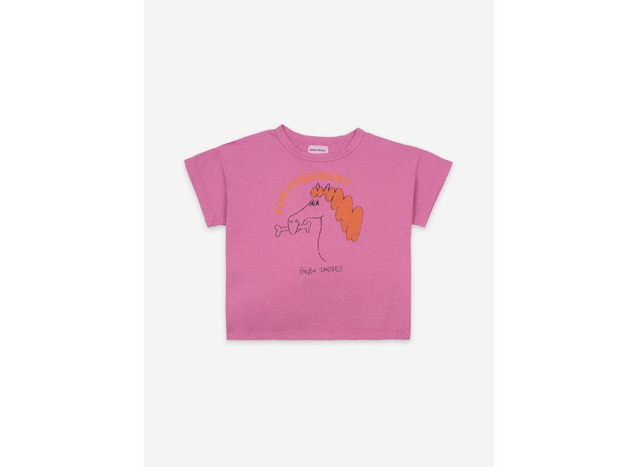 Fetching Horse Short Sleeve T-Shirt Dahlia Mauve