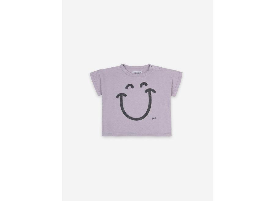 Big Smile Lila Short Sleeve T-shirt Lavender Aura