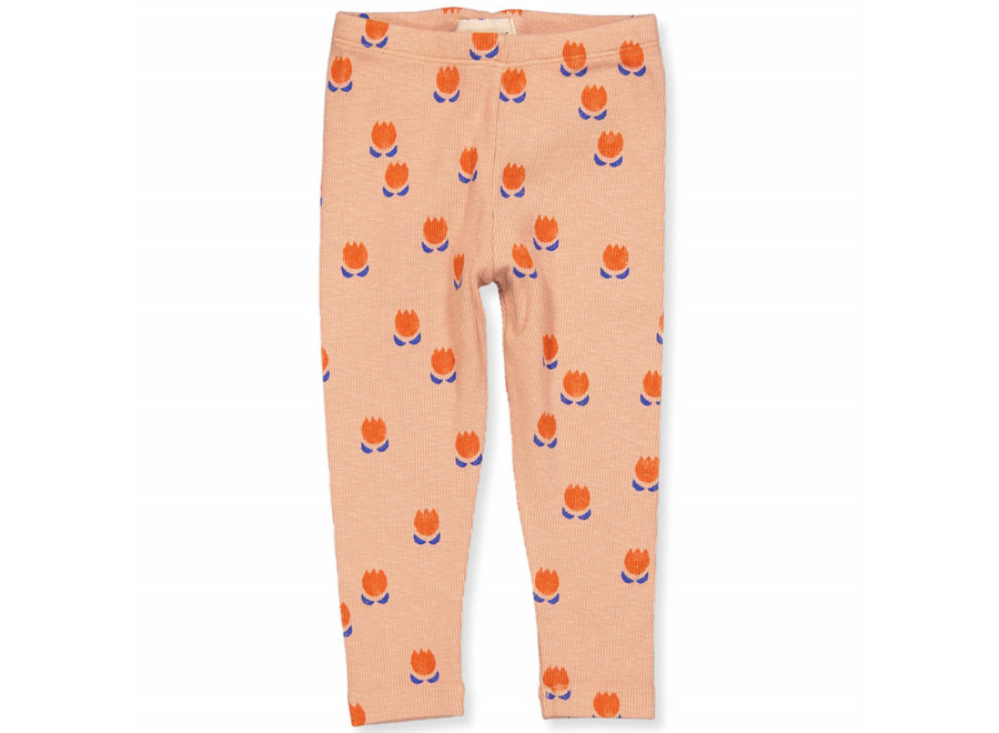 Chocolate Flowers All Over Leggings Dusty Pink