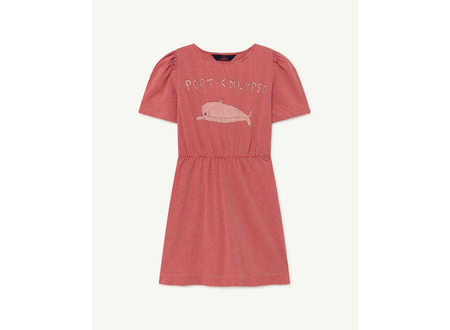 Flamingo Kids Dress Red Dolphin
