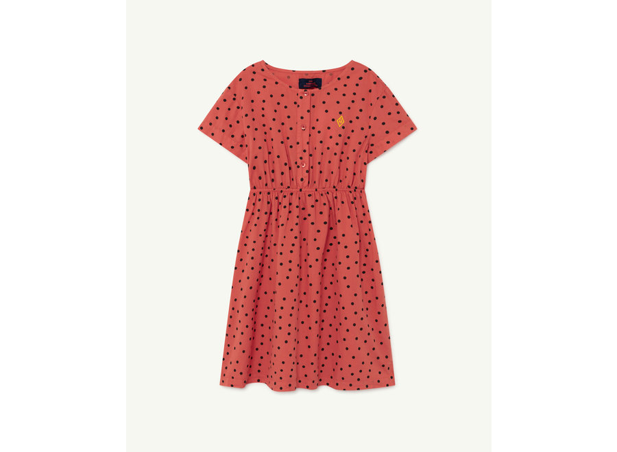 Dolphin Kids Dress Red Dots