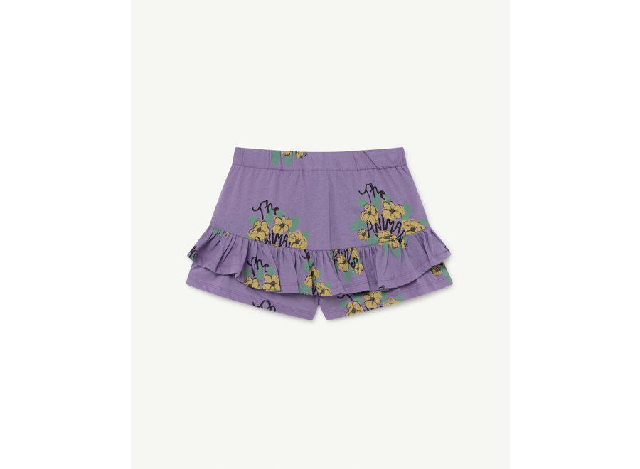 Kiwi Kids Skirt Purple Flowers
