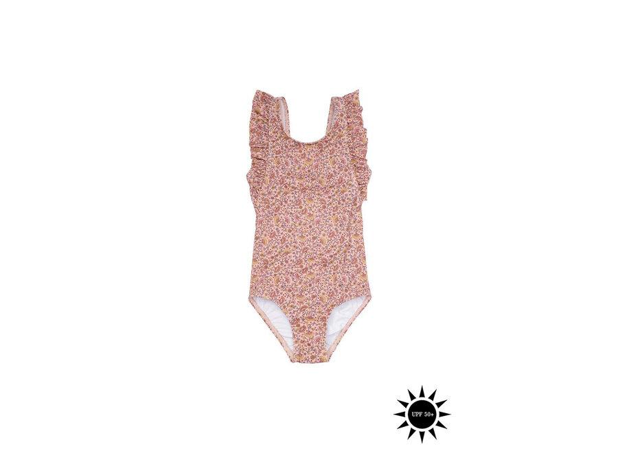 Ana Swimsuit Misty Rose, AOP Flower Swim
