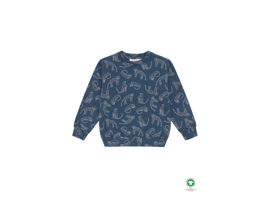 Baptiste Sweatshirt Majolica Blue, AOP Loeline