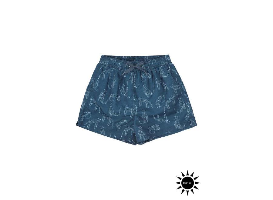 Dandy Swim Pants Majolica Blue, AOP Loeline