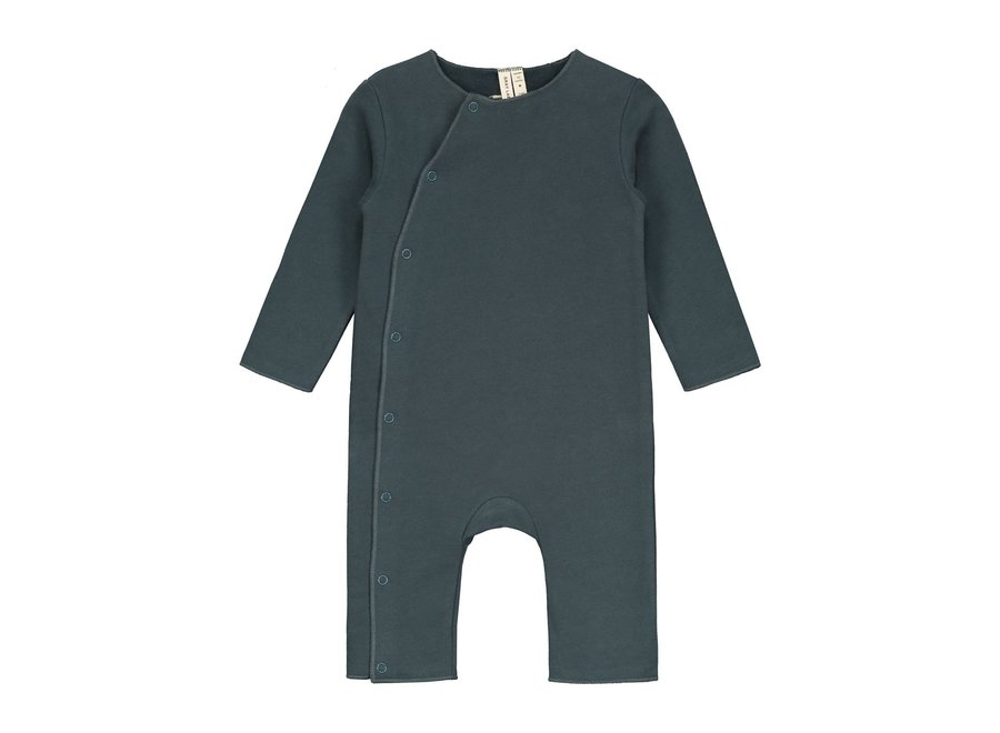 Baby Suit with Snaps Blue Grey