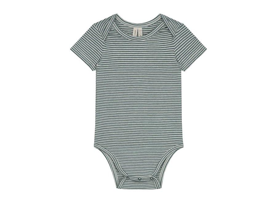 Baby Onesie Blue Grey/Cream