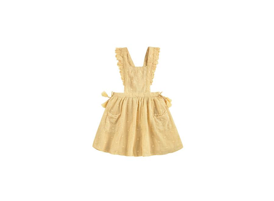 Dress Huguette Soft Honey Plumetis