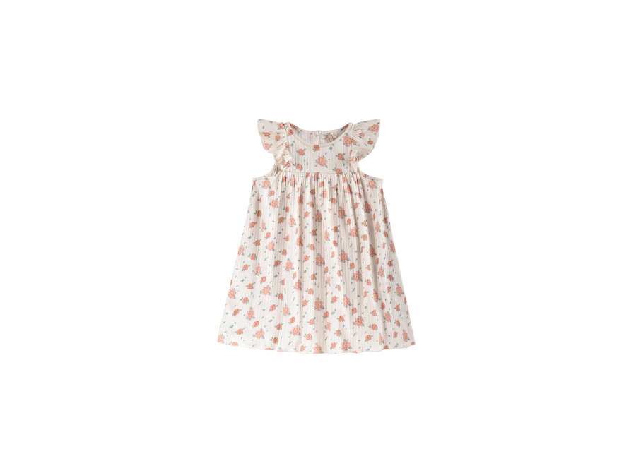 Dress Amita Off-White Flowers