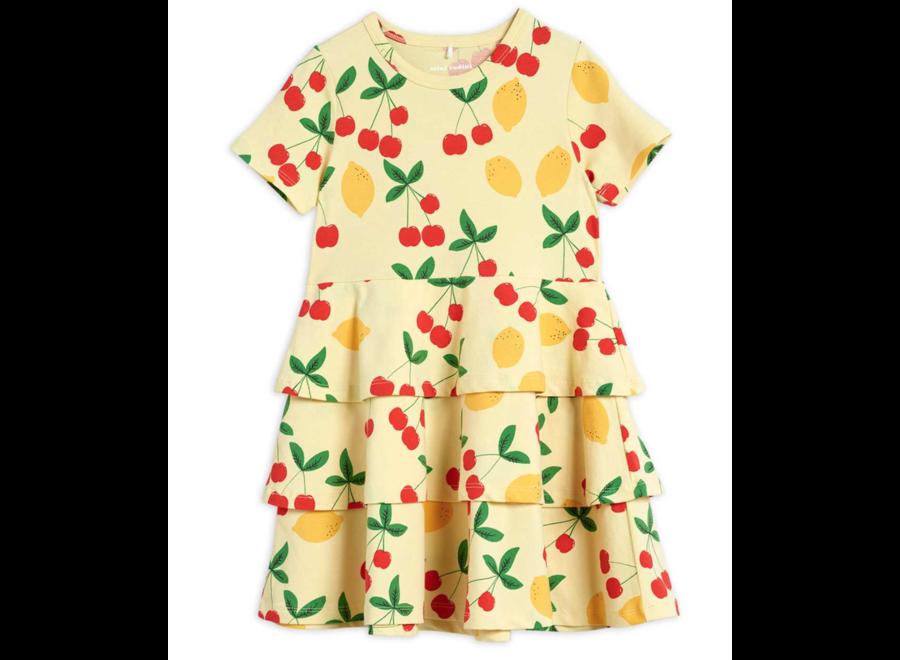 Cherry Lemonade Aop Ss Dress Yellow