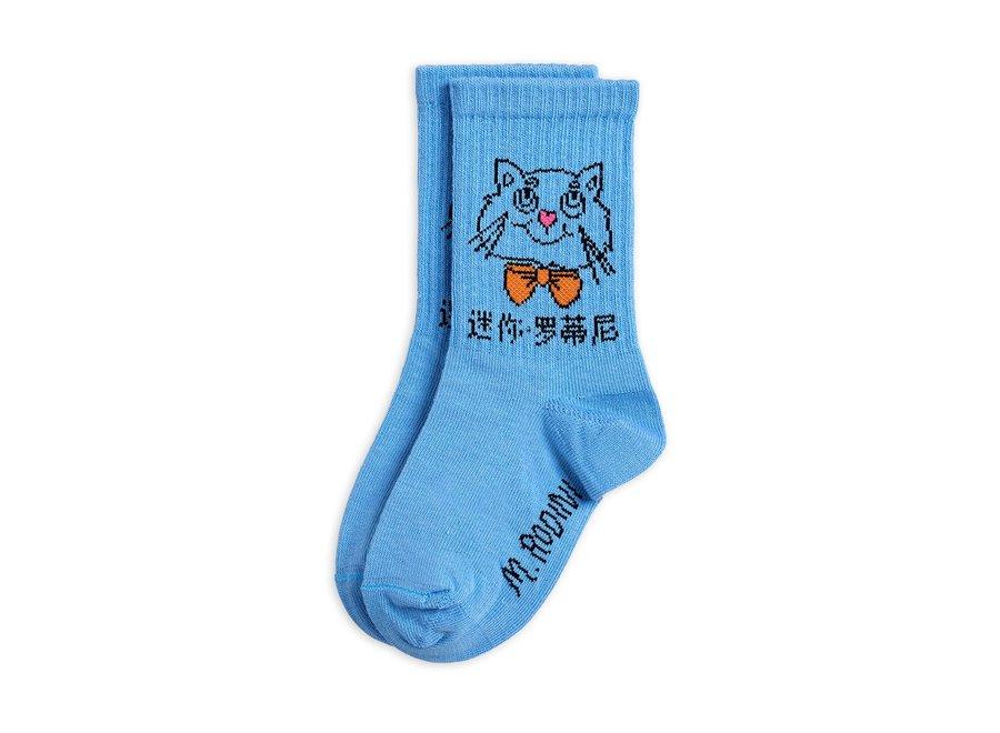 Cat Socks Light blue