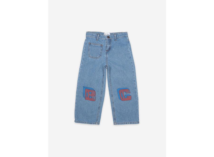 B C Squared Denim Pants Swedish Blue