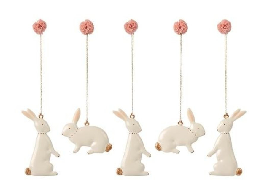 Easter Bunny Ornaments - 5 pieces