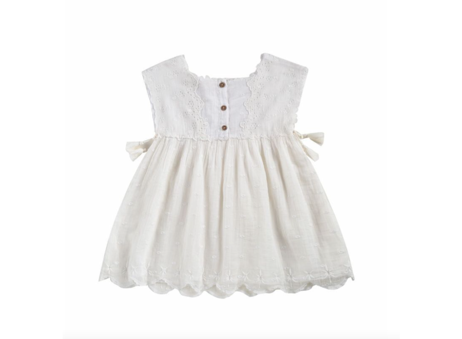 Dress Leilani Off-White Plumetis