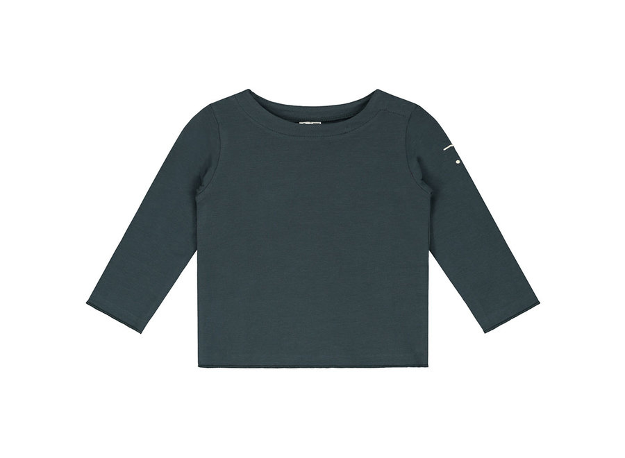 Baby L/S Tee Blue Grey