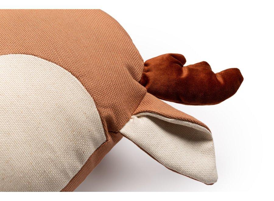 Deer Cushion 32X34X10  Sienna Brown