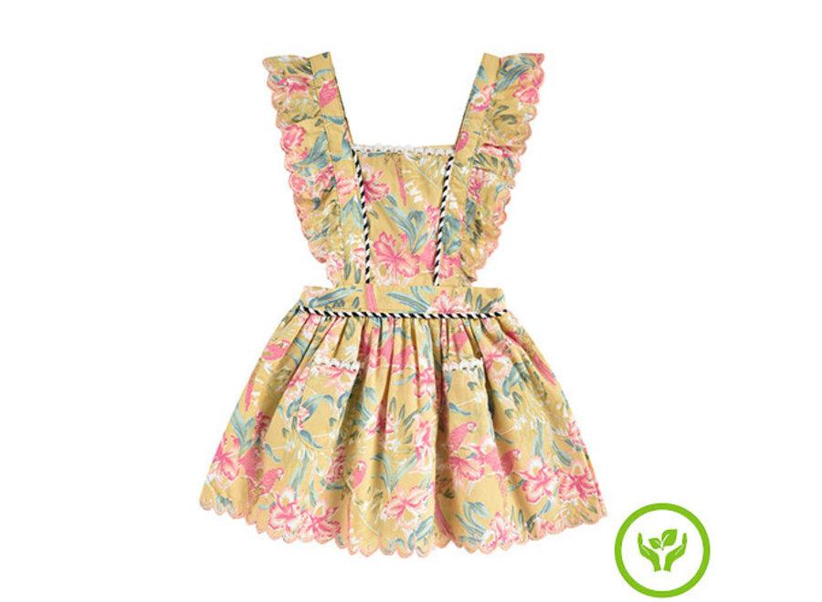 Dress Mistinguette Soft Honey Parrots