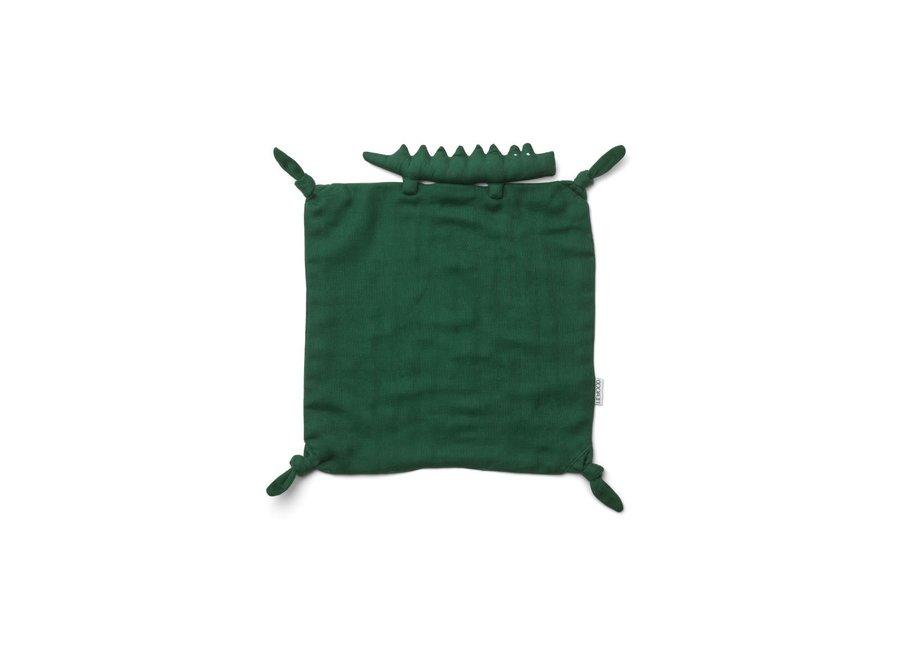 Agnete Cuddle Cloth - Crocodile garden green