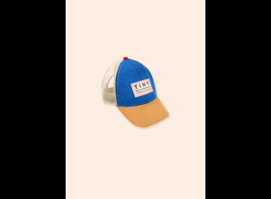 COLOR BLOCK TINY CAP iris blue/honey