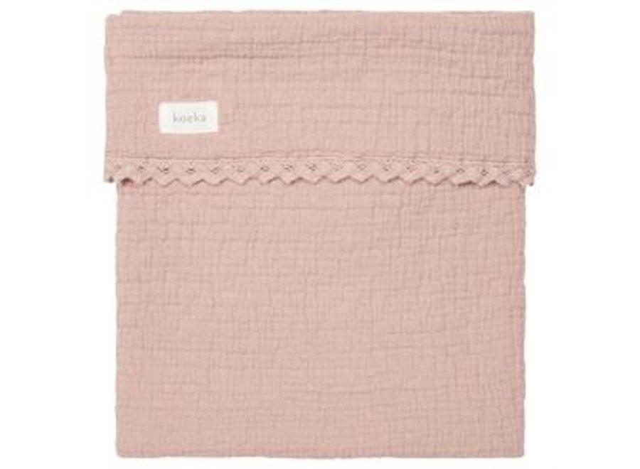 Cot blanket lace Elba - Koeka