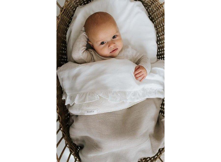 Bassinet blanket teddy Cairo - Koeka