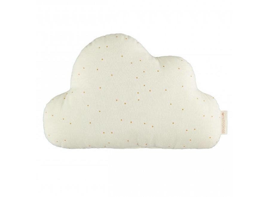 Cloud Cushion 24X38 Honey Sweet Dots Natural