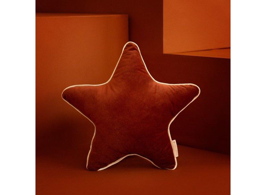 Aristote Star Velvet Cushion 40X40 Wild Brown