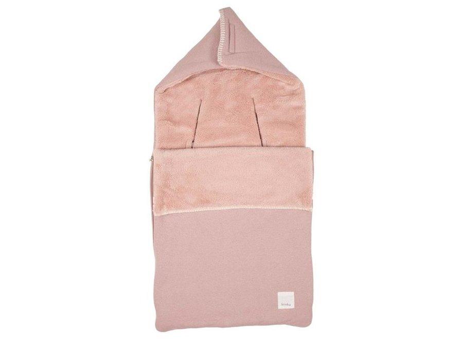 Voetenzak 0+ 3/5 punts teddy Runa - Old Pink