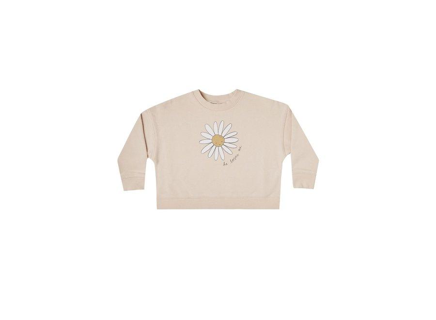 daisy love boxy pullover