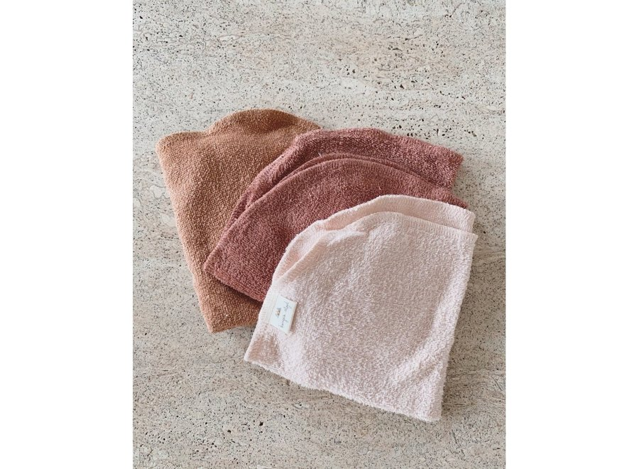 3 Pack Terry Wash Cloths - Bloom